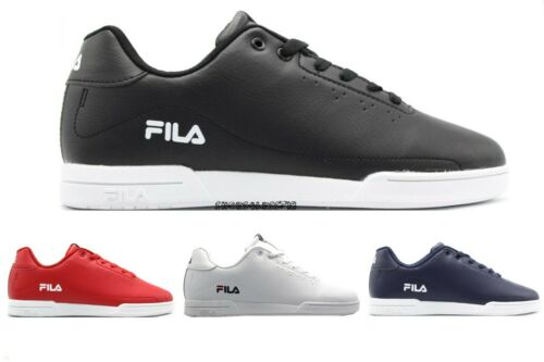 NEW MENS FILA CLASSIC WISTERIO BLACK WHITE LOW CUT TENNIS LACE UP SNEAKERS