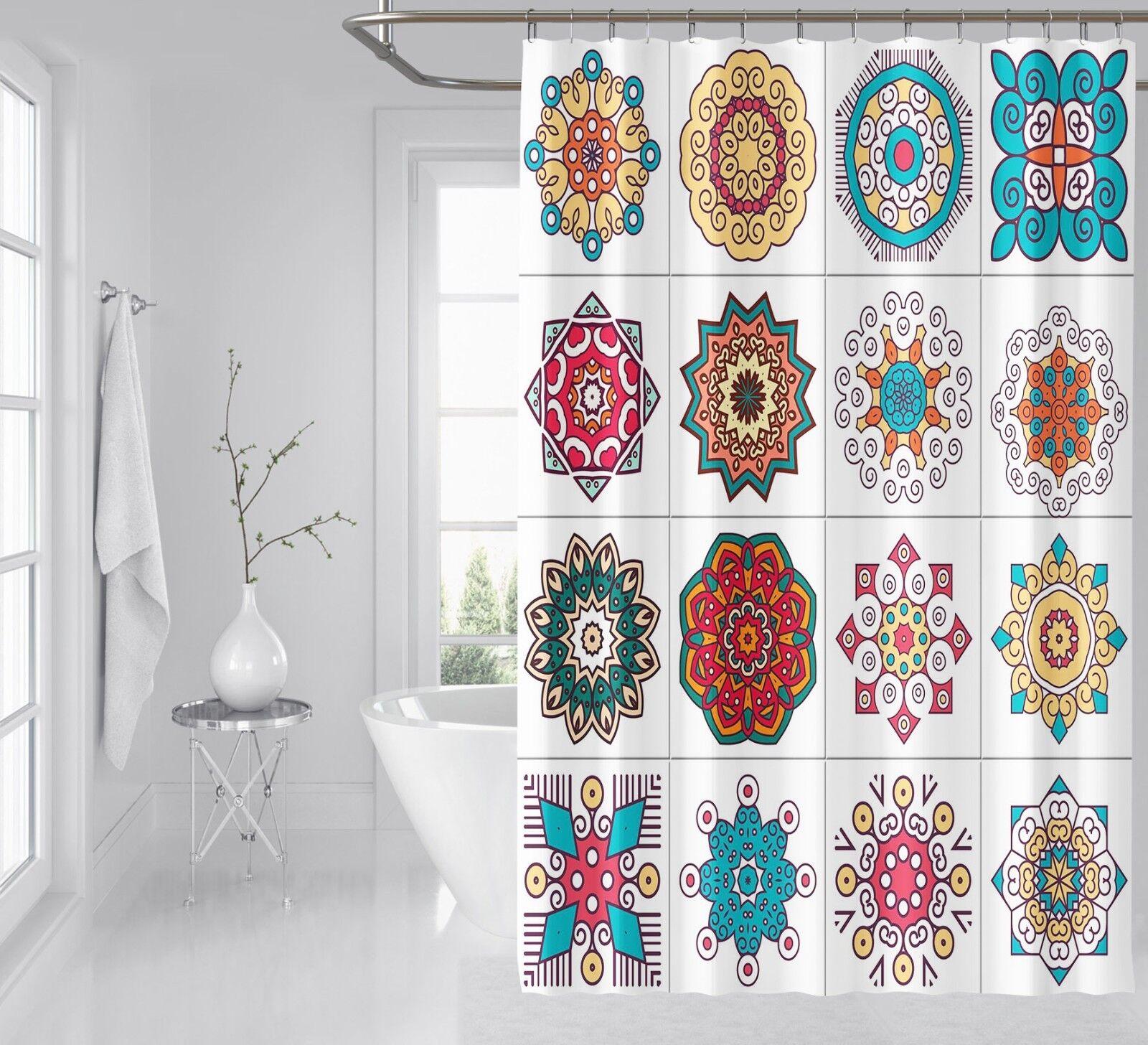 3D Farbe Pattern 19 Shower Curtain Waterproof Fiber Bathroom Home Windows Toilet 66dd3c