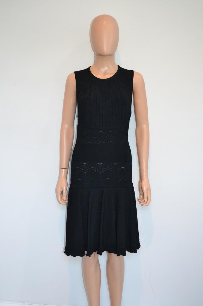 Alexander McQueen Negro Viscosa Con textura Tejido  Vestido Sin Mangas, Talla S  Compra calidad 100% autentica