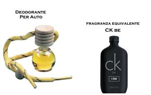 Profumo Per Auto Camper Roulotte Armadio Profumatore Deodorante CK BE ispirato
