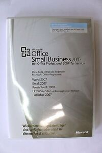 Microsoft-Office-Small-Business-2007-MLK-Lizenzschluessel-Key-ohne-Datentraeger