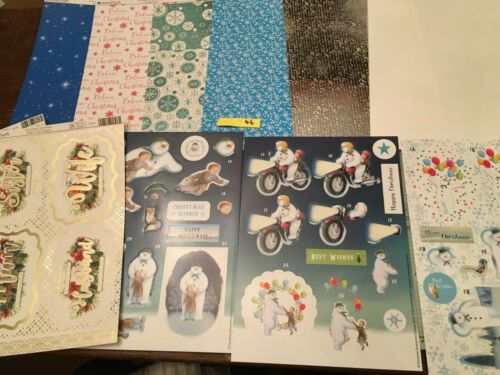 a4 Tarjeta Toppers Muñeco de Nieve Navidad Cardmaking Kit HK46 2 Gratis frustrado Toppers