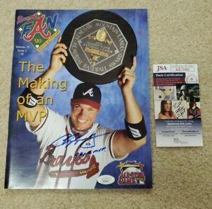 Chipper Jones Signed Magazine 99 NL MVP  Atlanta Braves Fan Jsa Coa