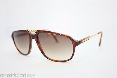 Lotus Aviator Vintage sunglasses L10 Havana Gold 60mm NOS RARE