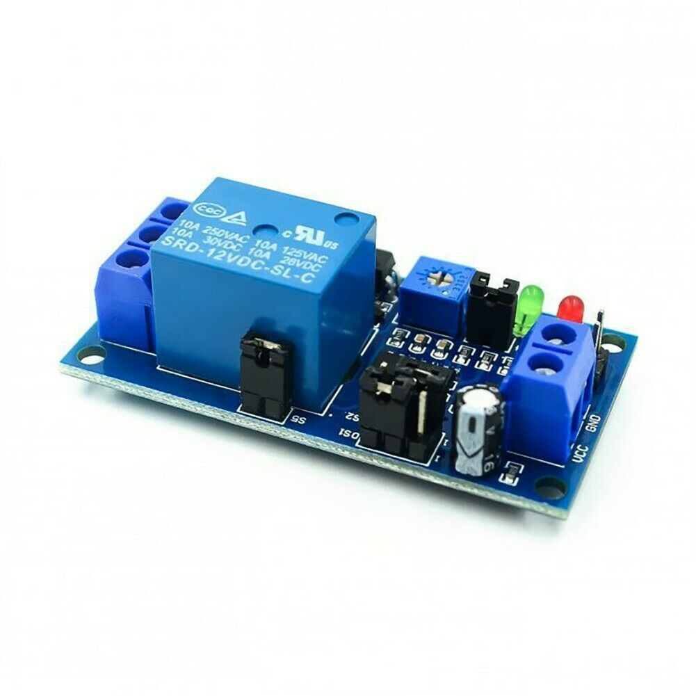 12V DC Delay Adjustable Timer Relay, Delay Turn Off Switch Module Accessory