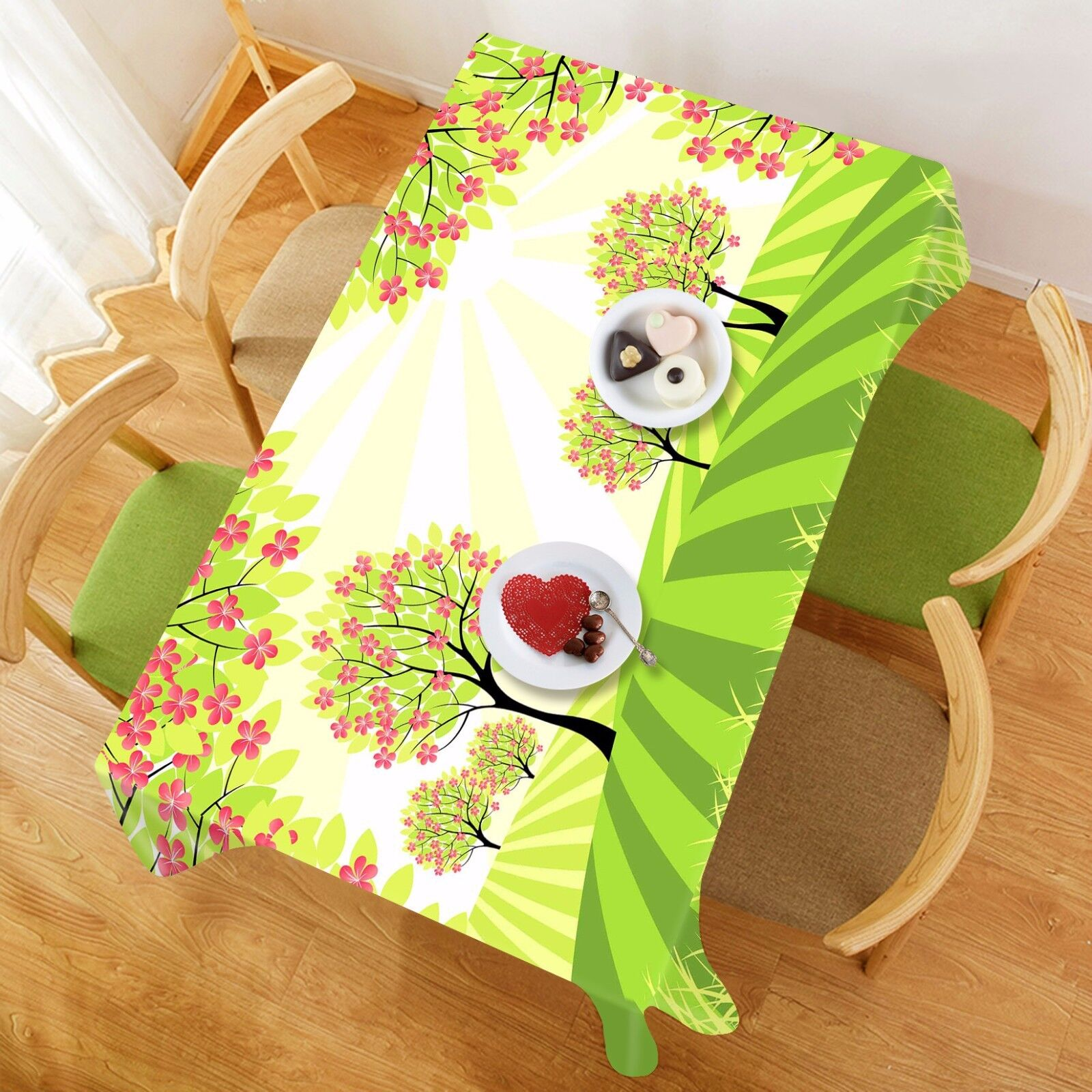 3D Arbre Pelouse 53 Nappe Table Cover Cloth Fête D'Anniversaire événement AJ papier peint UK
