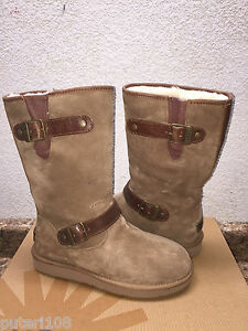 Image is loading UGG-SUTTER-CHESTNUT-WATER-AND-SNOW-RESISTANT-LEATHER-
