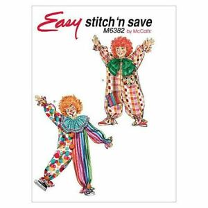 McCalls-Sewing-Patterns-6382-Child-Clown-Costumes-Size-2-8-A