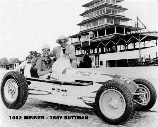 TROY RUTTMAN 1952 INDY 500 WINNER AUTO RACING 8X10 PHOTO