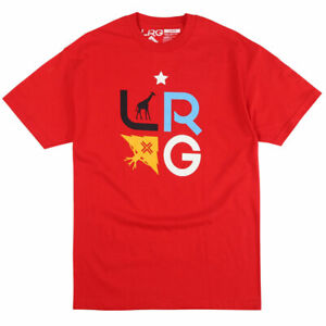 LRG-Men-039-s-Tree-Stack-Short-Sleeve-T-Shirt-Red-Clothing-Apparel-Tee-T-Shirt