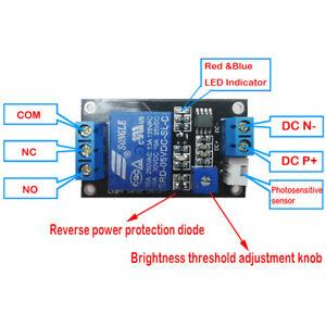 Photo Sensitive Sensitivity Light Switch Sensor Module 5V Relay for Arduino DL