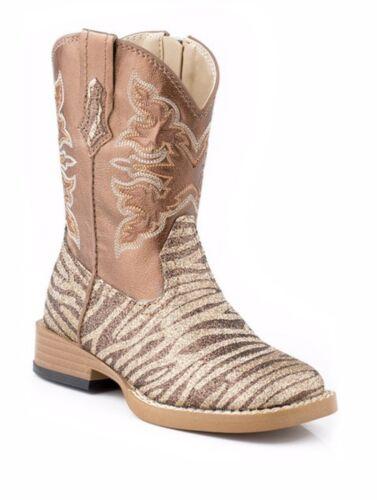 Womens Zebra Print Glitter Cowgirl Boots