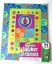 NEW Peace Magnetic Locker Fridge Frames 4x6 3x5 Plus 9 Bonus Magnets