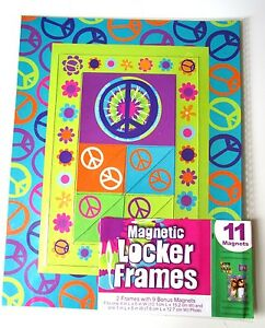 Peace Magnetic School Locker Fridge Frames 4x6 3x5 Plus 9 Bonus