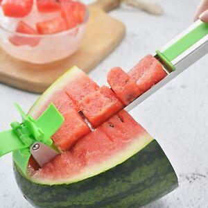 Pasteque-Windmill-Cutter-Coupe-en-Acier-Inoxydable-Melon-granuler-couteau-Fruit-Cutter