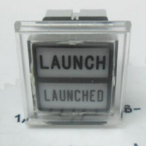 607-8051-011-KORRY-LIGHT-INDICATOR-PUSH-SWITCH-SHOWS-LAUNCH-LAUNCHED-NOS