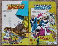 """ANICETO MEXICAN COMIC, """"Andanzas de Aniceto"""" como Hermelinda Linda lote de 2"""