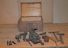 Jewelers watch makers tools anvil hammers punches vise staking collectible lot