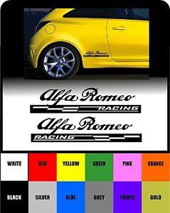 For Alfa Romeo X RACING CHECKS Body Panel CAR DECAL STICKER - Alfa romeo body panels