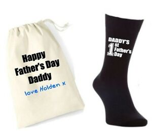 personalised 1st first father s day daddy cotton gift mens socks