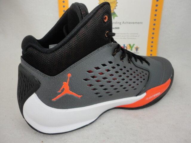 Nike Jordan Rising High, Metallic Hematite / Team Orange, 768931 005, Sz 12