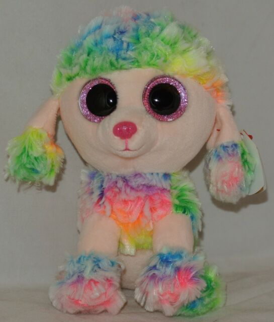 Ty Beanie Babies 37223 Boos Rainbow The Poodle Boo for sale online ... 68a6c52f7e04