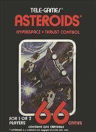 Atari Game Asteroids Atari Cartridge Vintage Atari 2600 Game Cartridge Atari Computer Atari Console Sears Tele-Games 1981