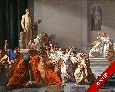 ASSASSINATION MURDER OF JULIUS CAESAR ROMAN PAINTING ROME ART REAL CANVAS PRINT