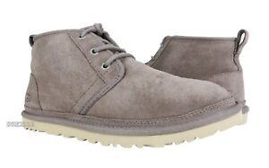 UGG Neumel Stormy Grey Suede Fur Shoes