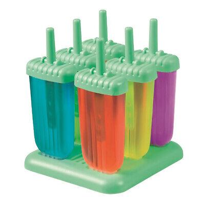 NEW Avanti Silicone Push Up Ice Block Moulds 6 Piece Set BPA FREE!