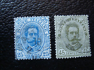 Italy-Stamp-Yvert-and-Tellier-N-61-62-Obl-A11-Stamp-Italy-U