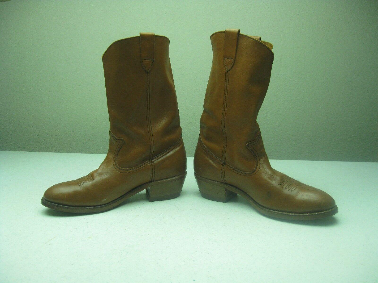 Vintage Hecho En Usa Marrón Western Cowboy Hard Hard Hard Toe Tup Goma solework Arranque Tamaño 10e f24a71