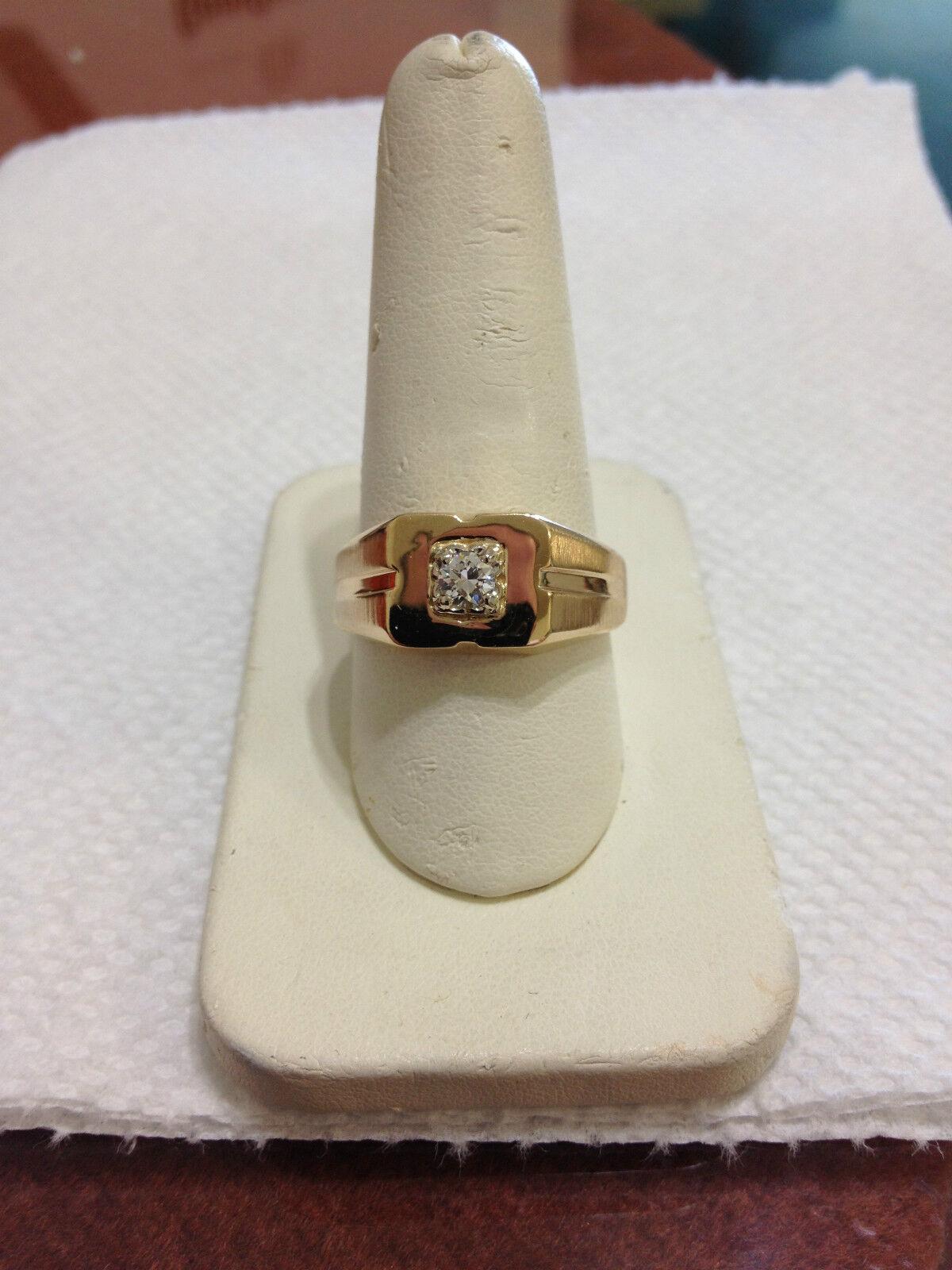 MENS LADIES DIAMOND SOLITAIRE PINKIE RING NO RESERVE
