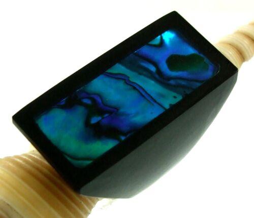 Handmade Blue Paua Abalone Shell Ring Taille US 7 Femmes Bijoux Fashion AA179-B