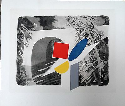 Tillyer William gravure originale signée pop art abstraction art abstrait UK
