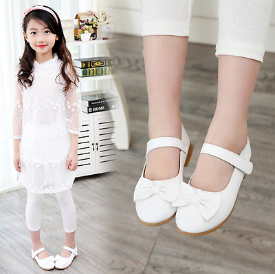 Girls Bow Princess Shoes Baby Girls Party Dress Kid Spring Flat Heels Shoes