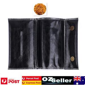Cigarette Tobacco Rolling Pipe Leather Bag Holder Wallet Filter Paper Case