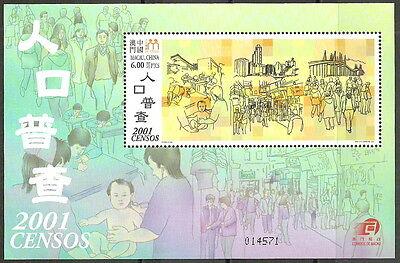 1162 Hart Arbeitend Macau Volkszählung Postfrisch 2001 Block 93 Mi