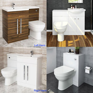 Image Is Loading Modern Toilet And Sink Vanity Unit Bathroom Basin