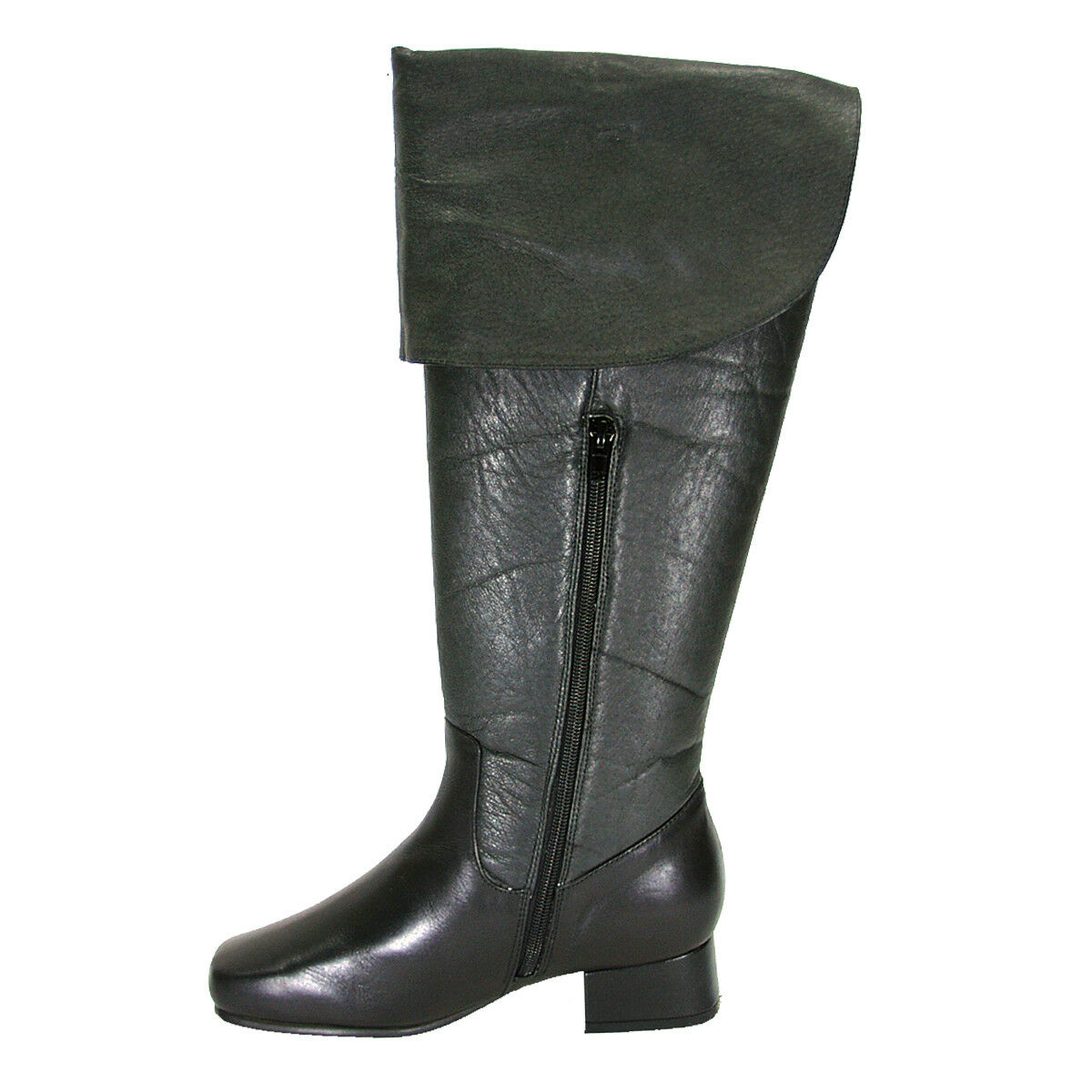 FIC Leather PEERAGE Mira Donna Wide Width Leather FIC Knee High Dress Boots 89f933