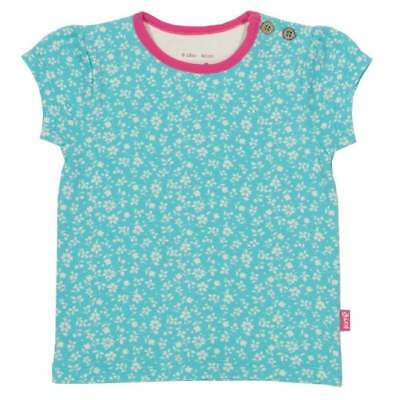 Kite Clothing Organic Cotton Baby Girl S T Shirt Blue Ditsy Flower