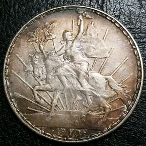 1910-Mexico-Un-Peso-Caballito-100th-Anniversary-of-the-Independence-Silver-Crown