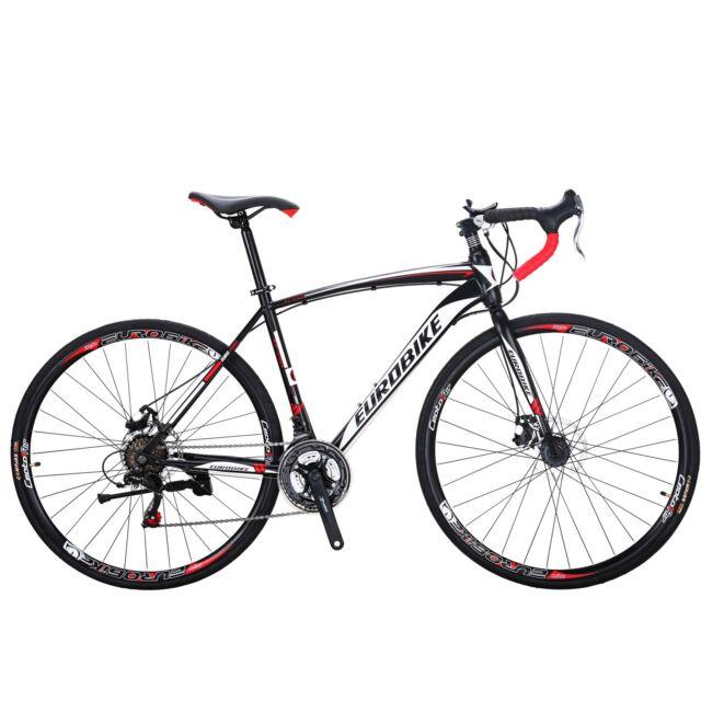 26 inch Road Bike 21 Speed Bicycle 700C Mens Bikes 54cm Daul Disc Brakes Ourdoor Bike
