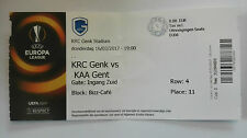 TICKET KRC GENK - AA GENT:  EUROPA LEAGUE 16/03/2017