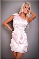 Crossdresser Sissy Elegant Pink Satin One Shoulder Mini Clubwear Dress Size L