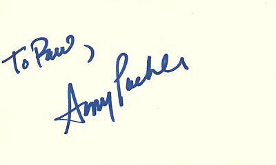 Entertainment Memorabilia Amy Poehler Actress Comedian Snl Tv Show Autographed Signed Index Card
