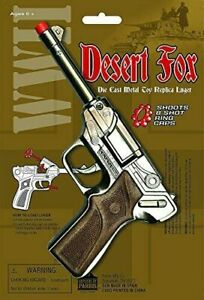 Desert-Fox-WWII-Die-Cast-Metal-Toy-Replica-Luger-Cap-Gun-Parris-Manufacturing