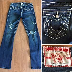fdb56f2c2 TRUE RELIGION Jeans DISCO JOEY BIG T Twisted Flare Leg Flap Pkts USA ...