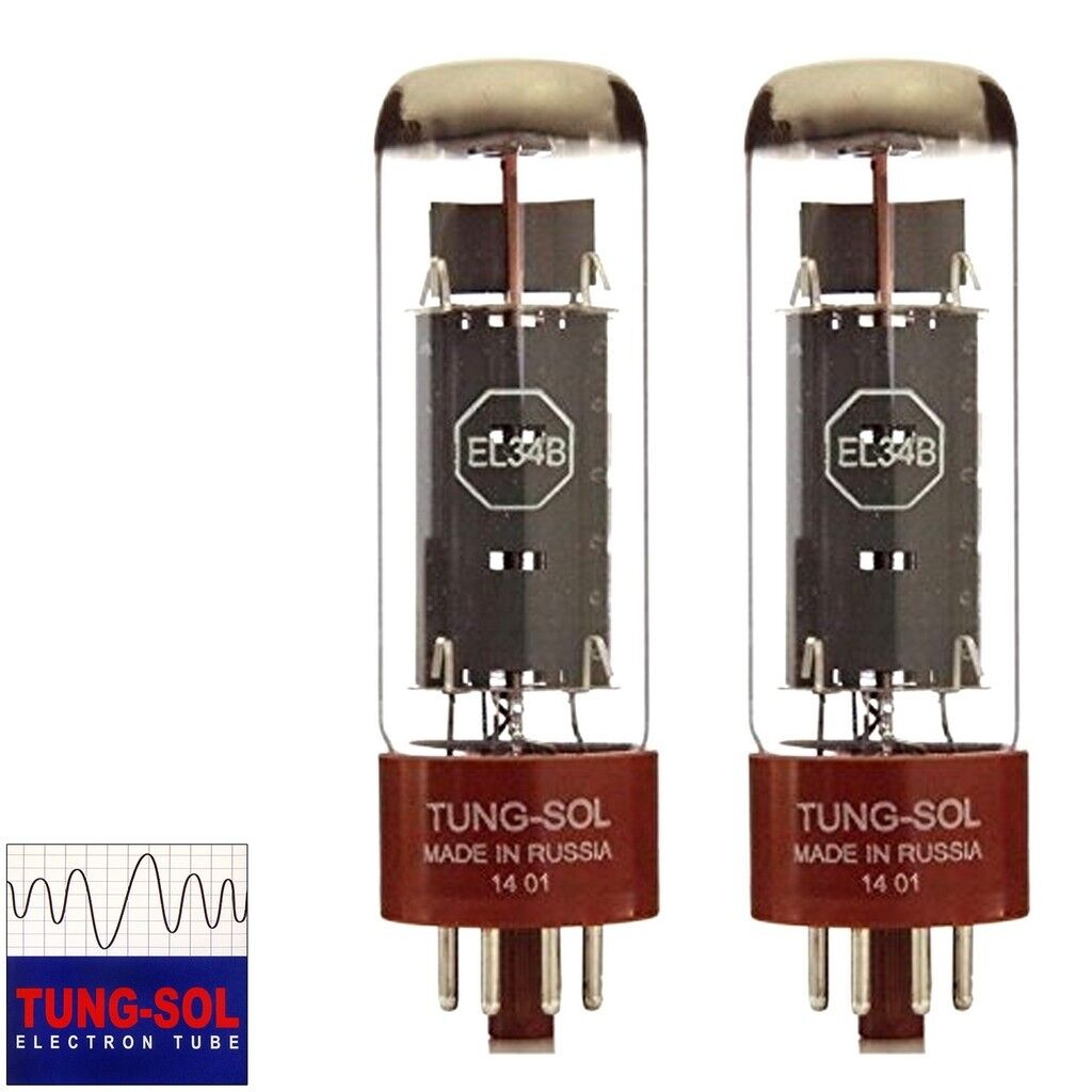 Brandneu Tung-Sol Reissue EL34B Platte Current Angepasstes Paar (2) Vakuum Rohre