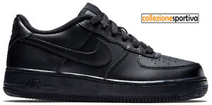 SCARPE UOMO/DONNA NIKE AIR FORCE 1 ONE LOW GS 314192009 col. nero/nero